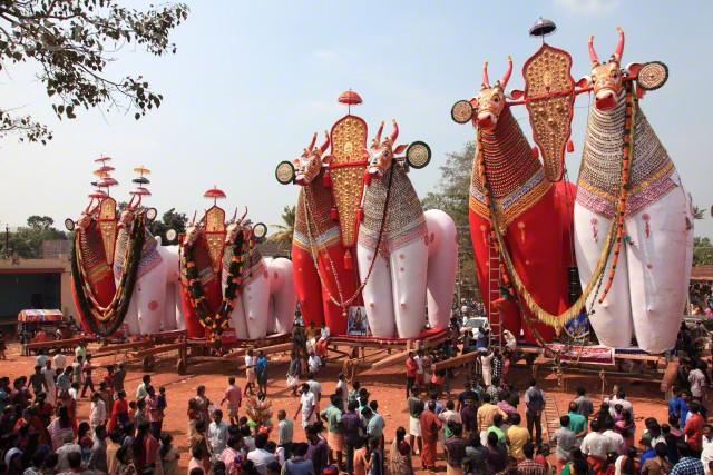 Festivales del templo de Kerala