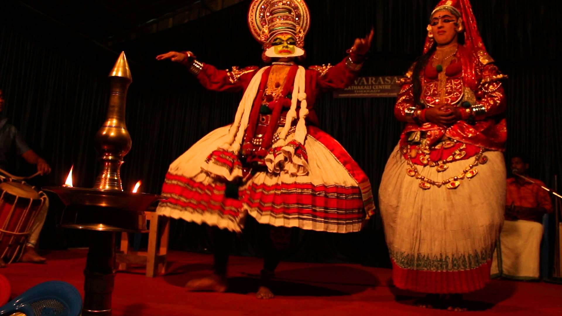 Disfrute de una danza de Kathakali