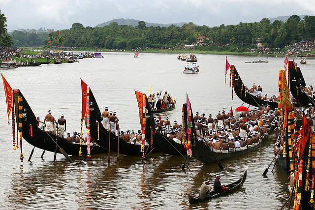 Festival del barco de Kerala