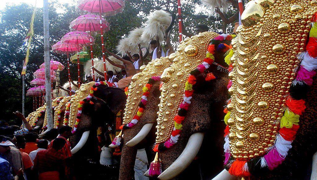Thrissur Pooram in kerala