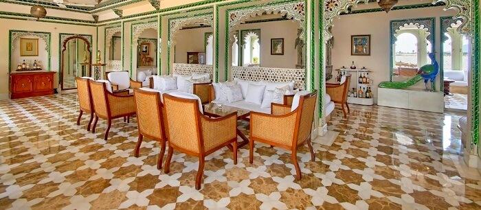 Restaurantes enPalacio delLago Taj Udaipur