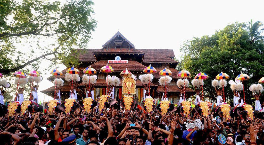 Fiestas coloridas en Kerala