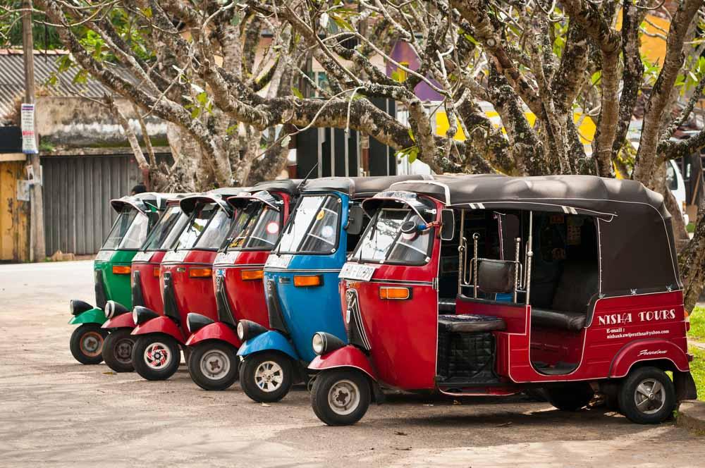 Transported within the Rickshaw or Tuk Tuk