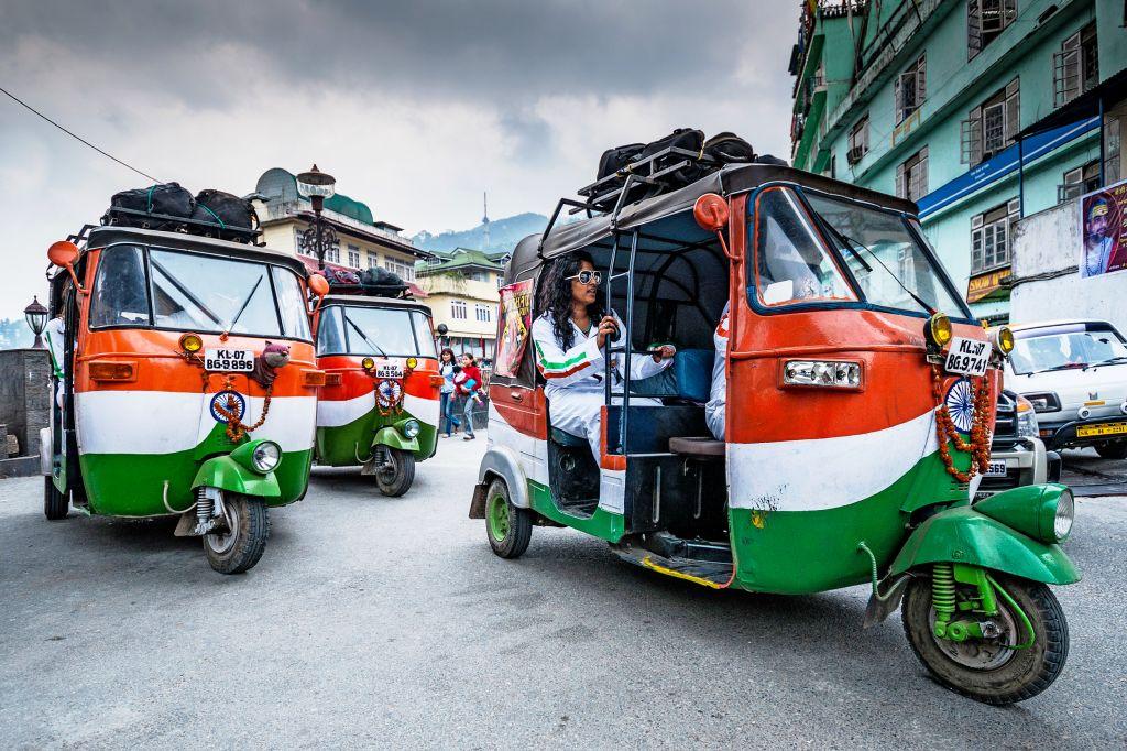 transporte en La India
