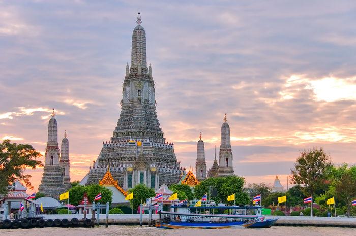 temples Wat Pho and Wat Arun thailand